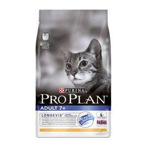 Pro Plan Adult Age 7+ Longevis Tavuklu ve Pirinçli Yaşlı Kedi Maması